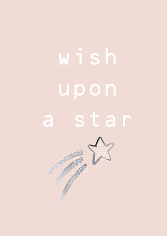 Wish Upon a Star Blush Children's Print