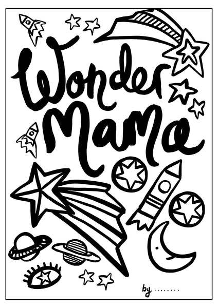 Mothers Day Colouring Sheet - Cosmic