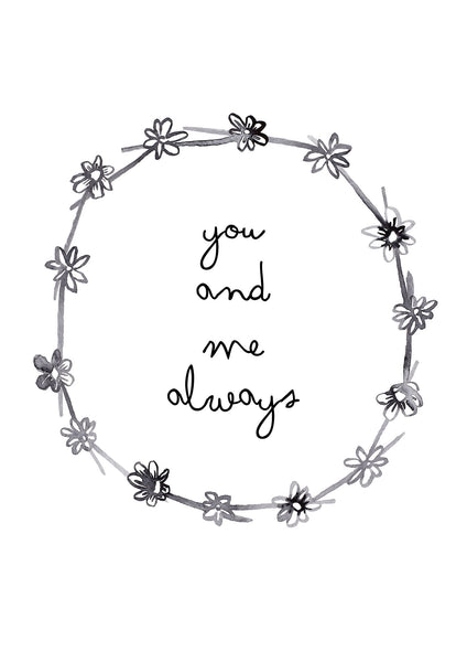 You and Me Always Children's Print