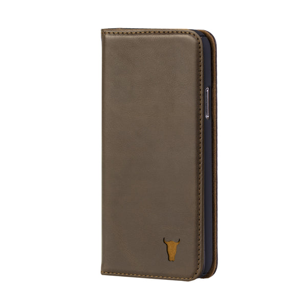 the best attitude 32d80 242ca iPhone X / iPhone 10 Dark Brown Leather Case, with Stand function