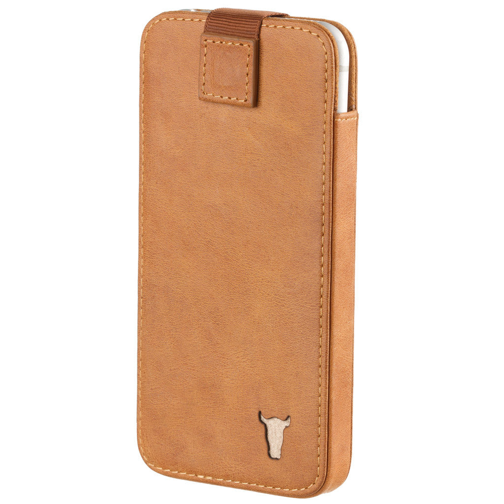 classic 9792d 3882a iPhone 6 Plus / 6S Plus USA Tan Leather Pouch/Sleeve Case
