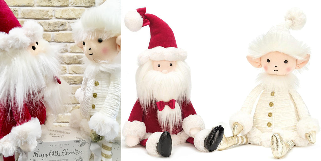 Jellycat Berry santa And Snowflake Elf