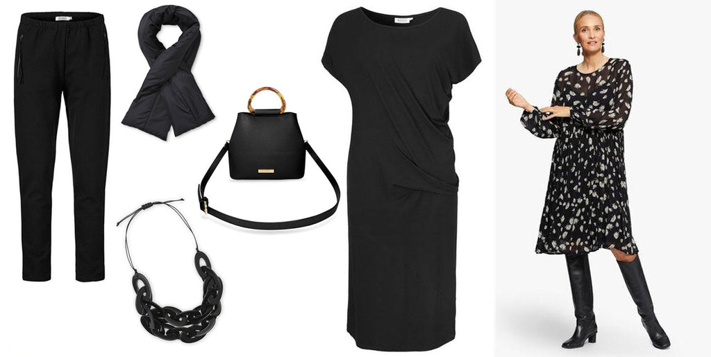 Black Fashion Accessories and Clothing