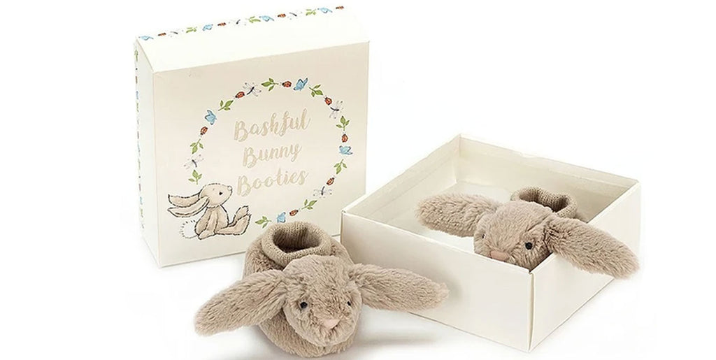 Baby Bunny Slipper Booties from Jellycat