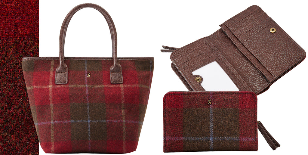 Joules Red Tweed Bag