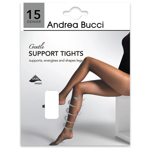 Andrea Bucci 15 Denier Gentle Support Tights In Barely Black
