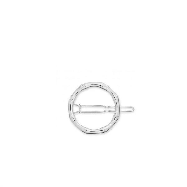 Joma Bamboo Hoop Hair Clip In Silver