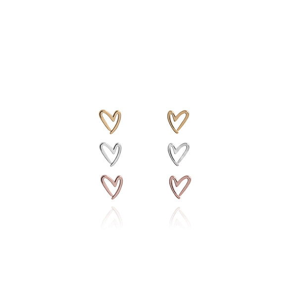 Joma Outline Heart Earring Set By Joma jewellery