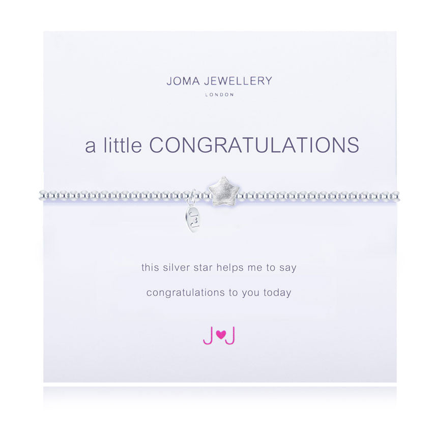 Joma A Little Congratulations Bracelet in Silver