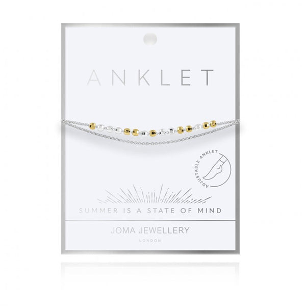 Two Tone Anklet By Joma Jewellery