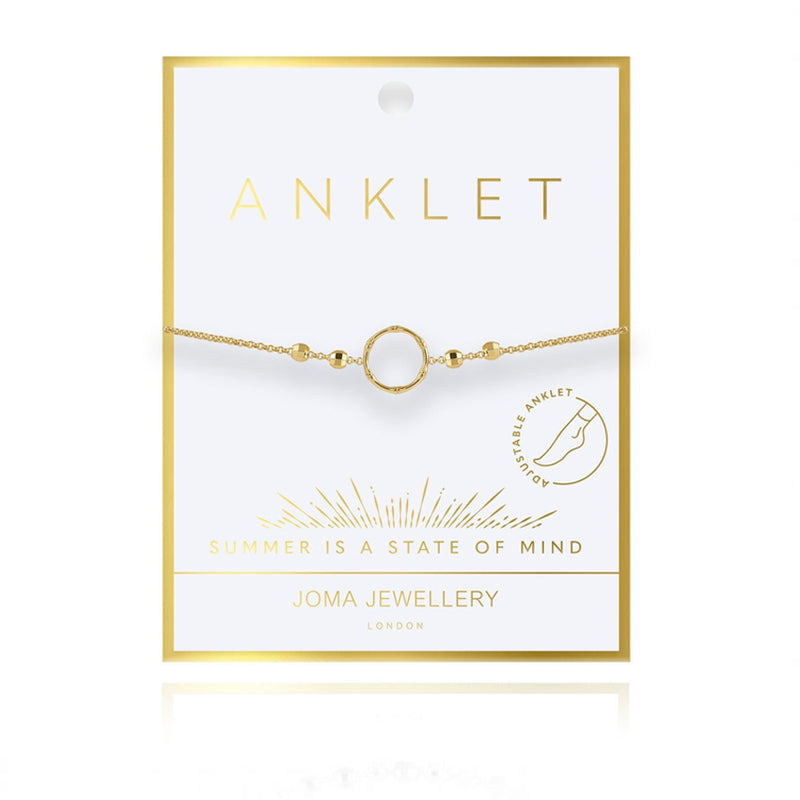 Gold Hoop Ankle Chain By Joma Jewellery