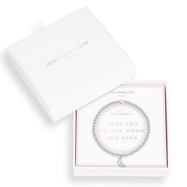 Love You To The Moon And Back Silver Plated Bracelet