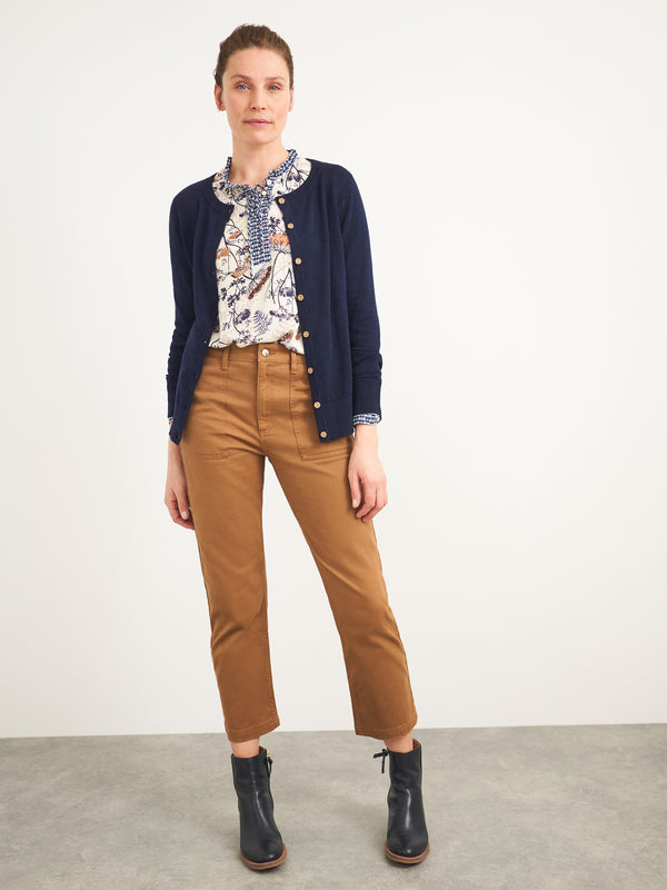 Denby Cropped Trousers by White Stuff