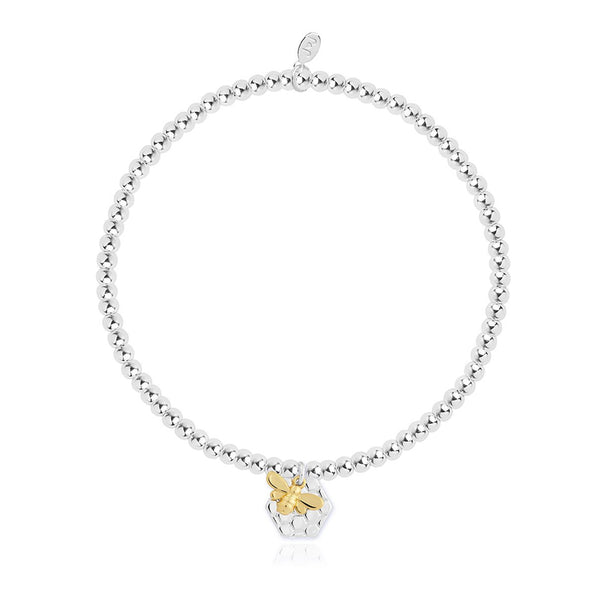 Silver Plated Bee Bracelet By Joma Jewellery