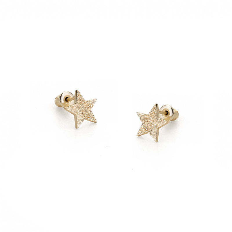 Gold Alpha Earrings By Tutti Star Constellations Stud