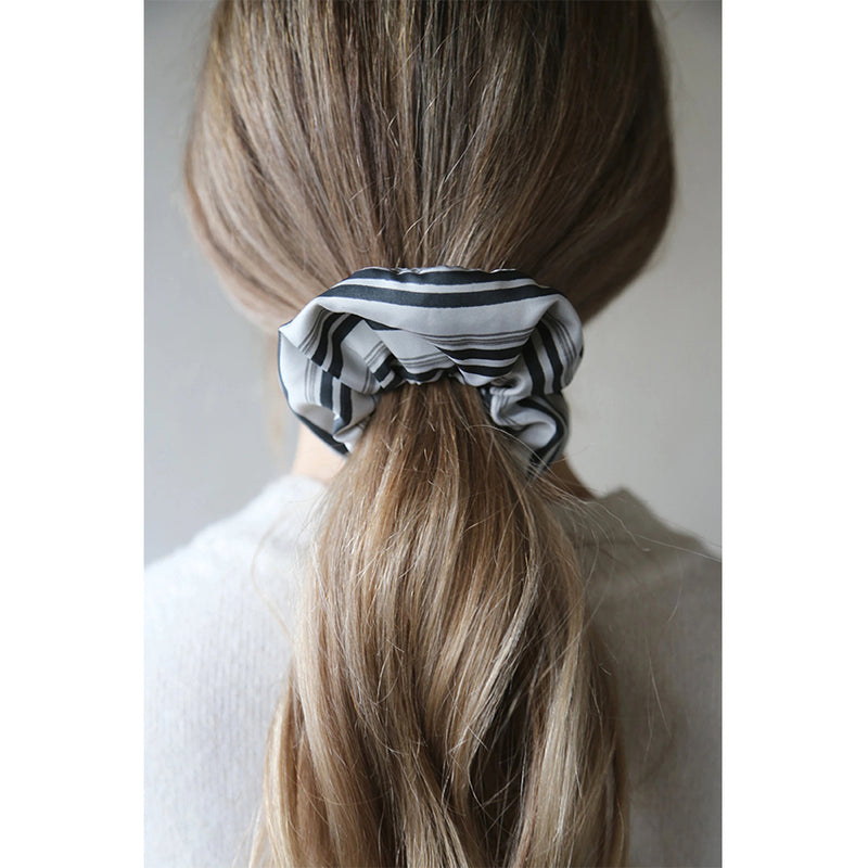 Stripe Grey Black Aspen Hair Bobble By Tutti Jewellery