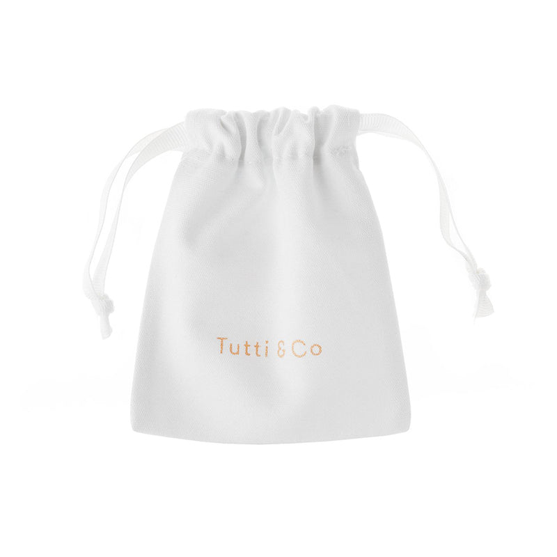 White Simple Tie Bags By Tutti & Co Jewellery