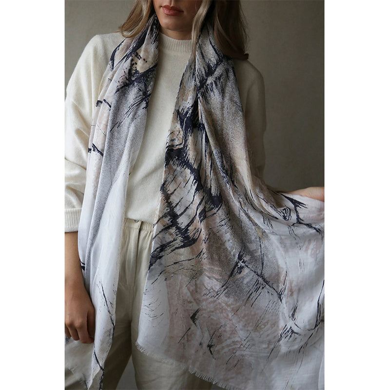 Printed Tencel Scarf Tutti Jewellery Women Gift Spring Summer