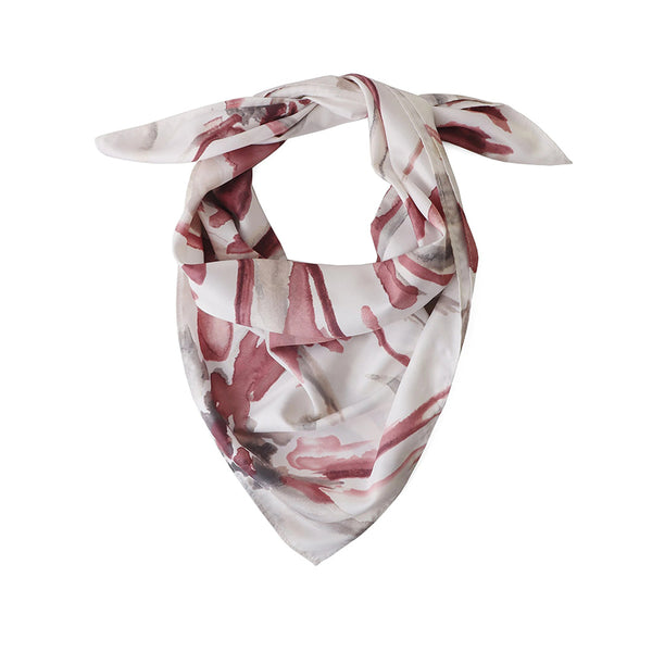 Bloom Pink Floral Watercolour Square Scarf By Tutti