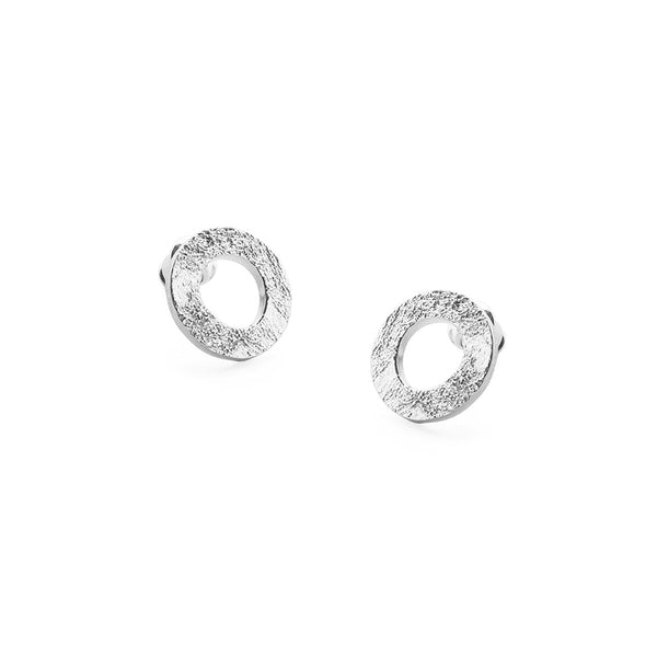 Textured Gift Earrings In Silver By Tutti Jewellery