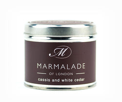 Marmalade of London Cassis & White Cedar Medium Tin Candle