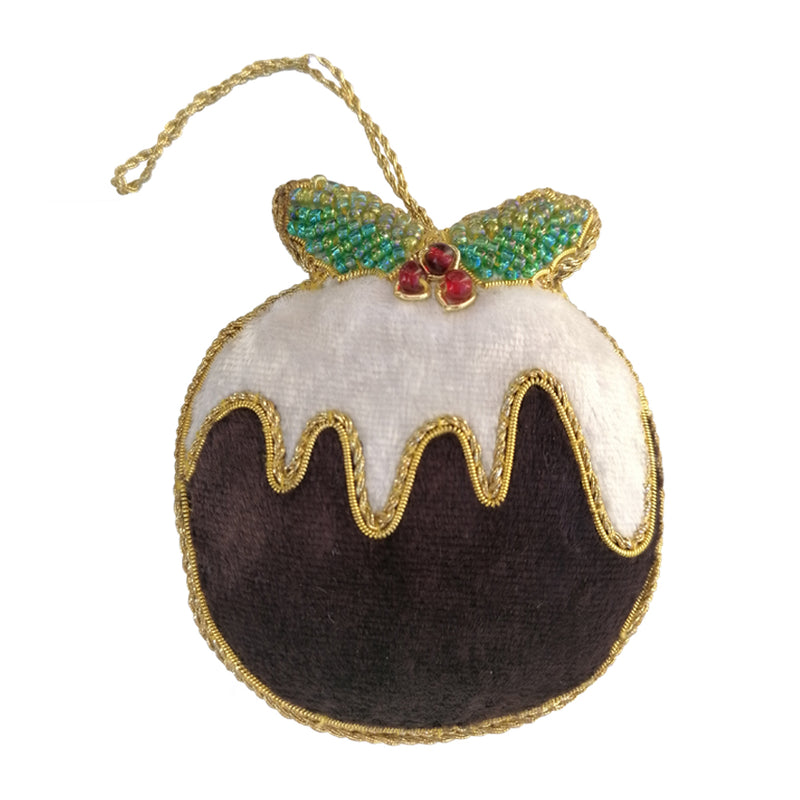 Beaded Christmas Pudding Tree Decoration By Tinker Tailor
