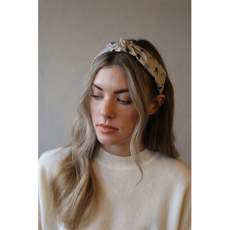 Black And Neutral Knot Headband Women Gift Hair Accessory