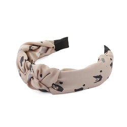 Dazed Speckled Brown Black Headband By Tutti