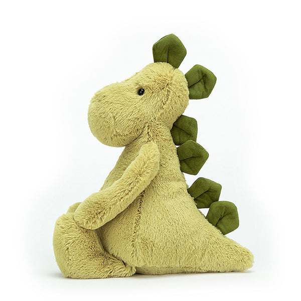 Medium Dino Toy In Green Soft And Cuddly