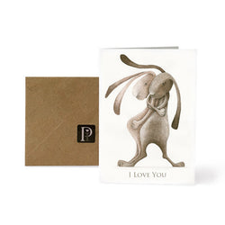 Exclusive Pippyink Blank Card 'I Love You'