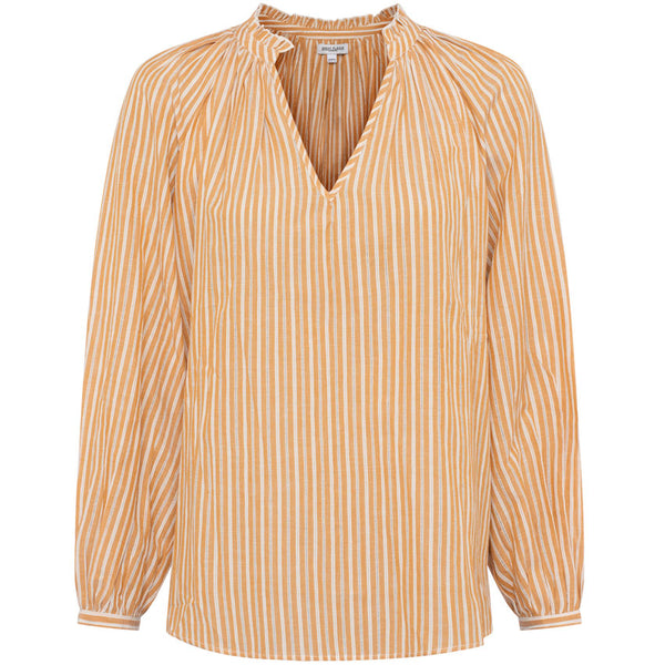 Great Plains Tia Stripe Blouse In Burnt Spice Milk