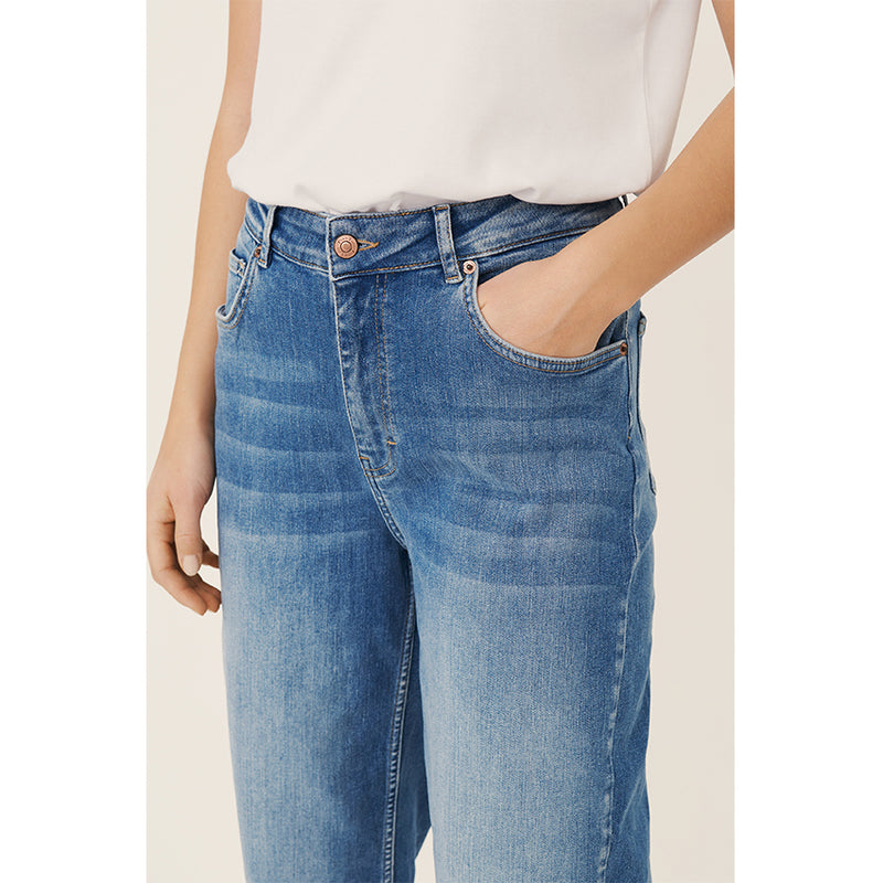 Fitted Jeans In Light Denim Cotton By Part Two