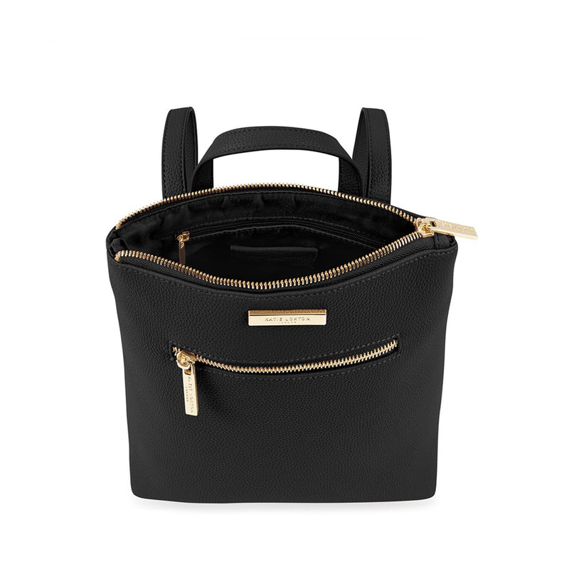 Zipped Black Katie Loxton Backpack On The Go Summer Collection