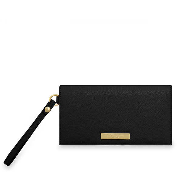 Black Wristlet Bag By Katie Loxton Gold Plating