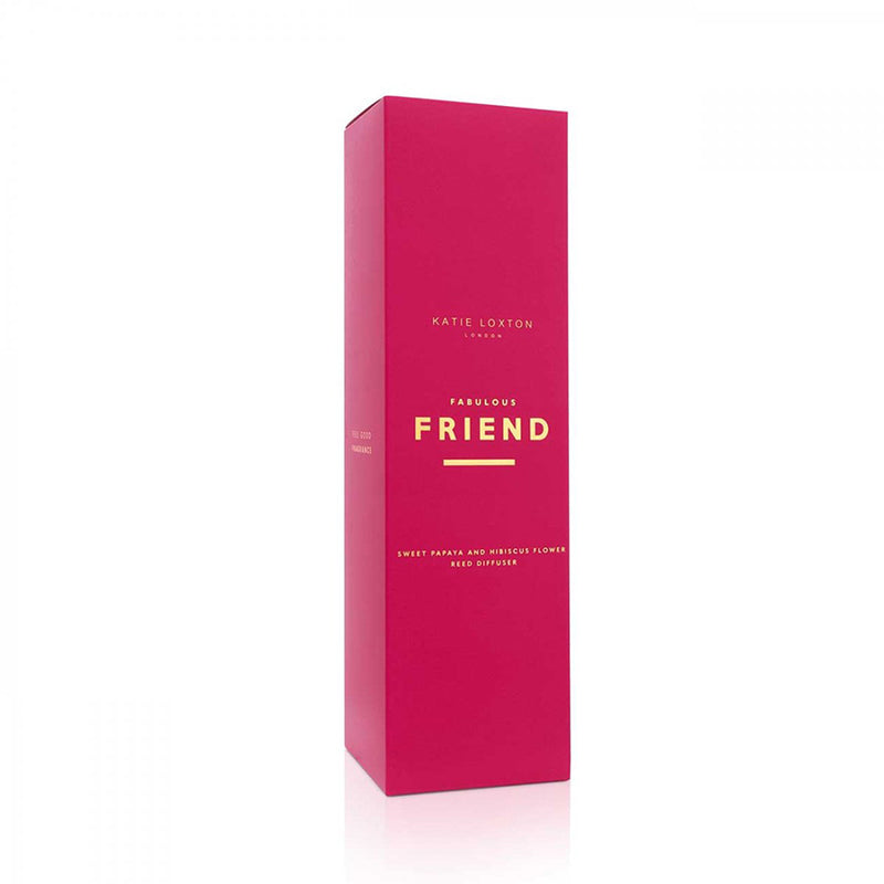 Katie Loxton Sweet Papaya And Hibiscus Flower Fabulous Friend Red Sentiment Reed Diffuser Gift