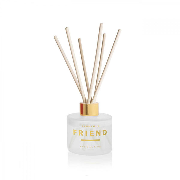 Sweet Papaya And Hibiscus Flower Fabulous Friend Sentiment Reed Diffuser Gift By Katie Loxton