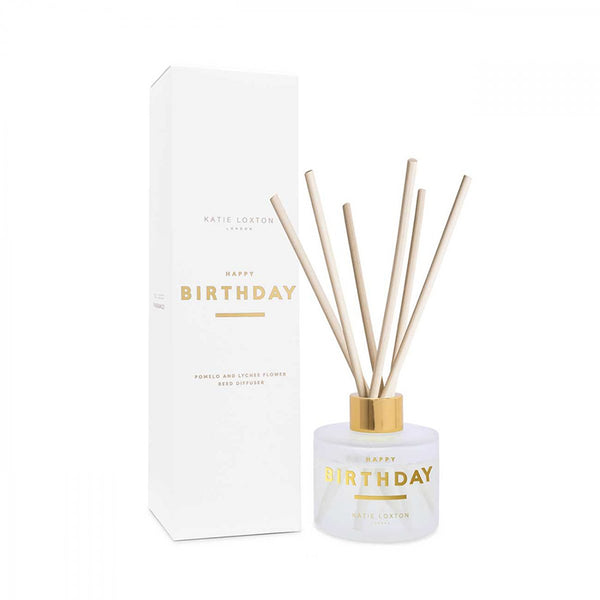 Happy Birthday Sentiment Reed Diffuser In Pomelo And Lychee Flower By Katie Loxton