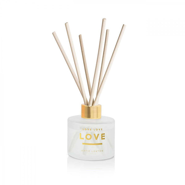 Sweet Papaya And Hibiscus Flower Love Love Love Sentiment Glass Reed Diffuser By Katie Loxton Present