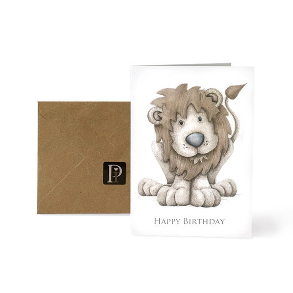 Exclusive Pippyink Happy Birthday Card 'Lion'