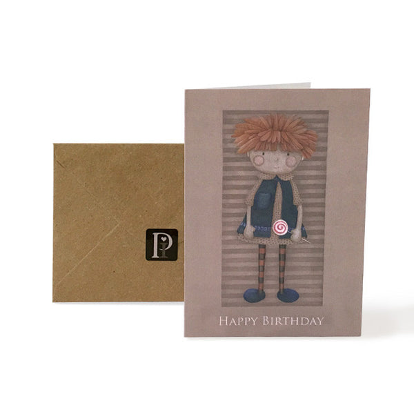 Exclusive Pippyink Happy Birthday Card 'Lolli Dolly Ginger'