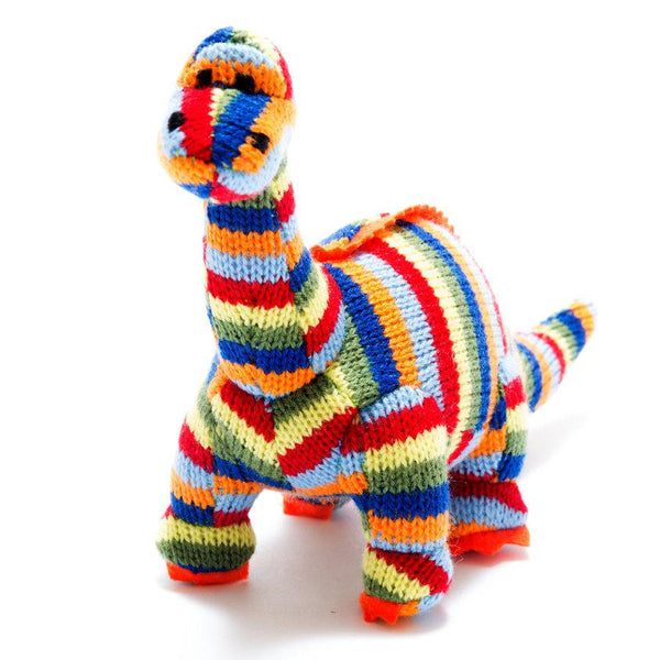 Best Years Mini Diplodocus Rattle In Multi Stripe