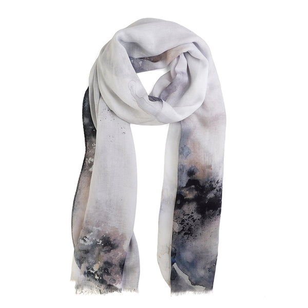 Tutti Orb Long Scarf Navy Black White Purple Pink