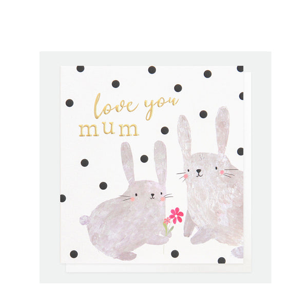 Love You Mum Rabbits Card By Caroline Gardner