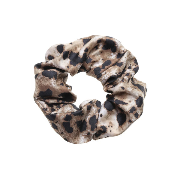 Speckled Brown Black Print Comfortable Tutti Jasper Scrunchie