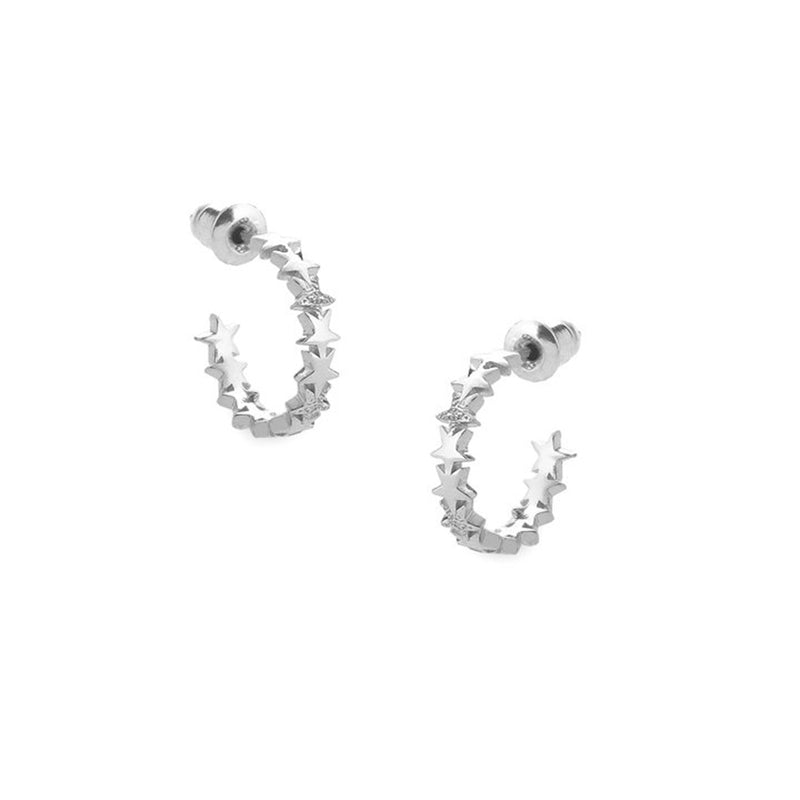 Stardust Silver Sparkle Earrings By Tutti
