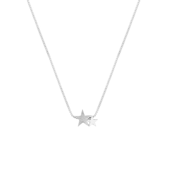 Starlight Tutti Silver Necklace Gift Two Stars