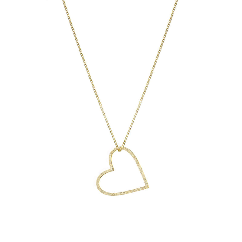 Gold Inspire Love Heart Necklace By Tutti Jewellery
