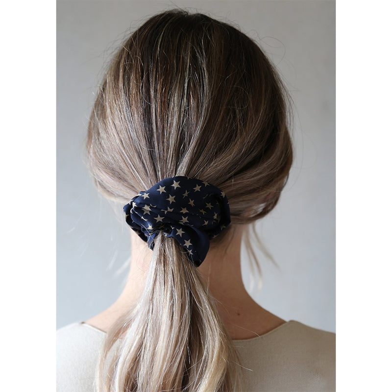 Solictice Star Pattern Scrunchie By Tutti & Co Gift Idea