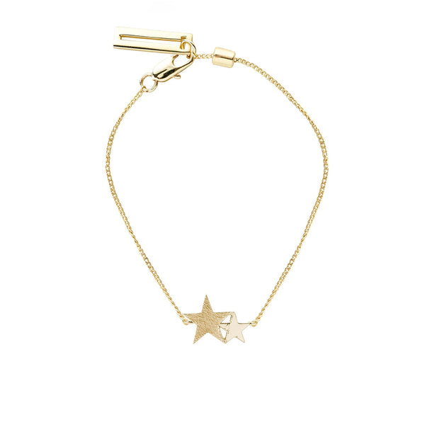 Two Stars Tutti Jewellery Glitter Gold Bracelet Starlight