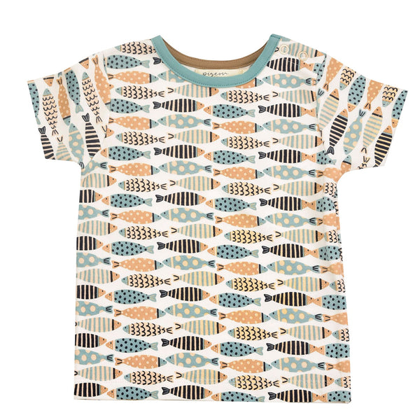 Short Sleeve T-shirt By Pigeon In Turquoise Summer Top